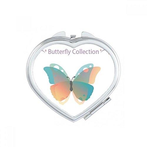 DIYthinker Purple Butterfly Collection Coeur Maquillage Compact Miroir de Poche Portable Mignon Petit Cadeau Miroirs Main Multicolor