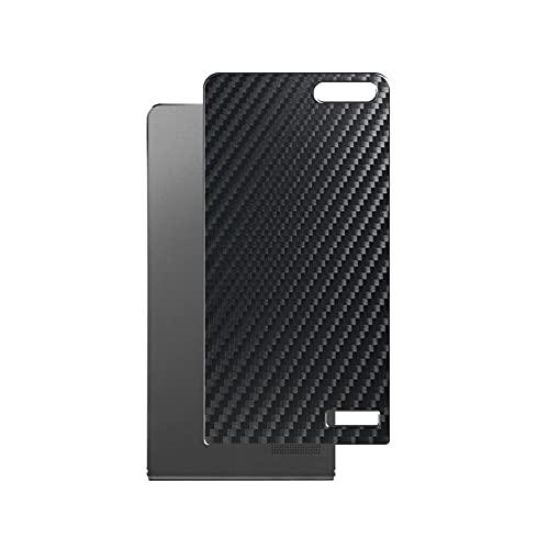Vaxson 2 Unidades Protector de pantalla Posterior, compatible con HUAWEI Ascend G6 / P7 Mini, Película Protectora Espalda Skin Cover - Fibra de Carbono Negro