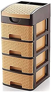 BLISSBORN 4 layer Extra Large Multi-Purpose Modular Drawer Storage System for Home and Office with Trolley Drawer Rack Sys...