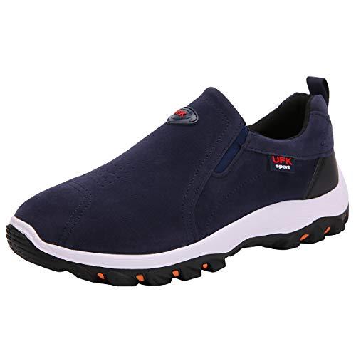 Wealsex Zapatos De Senderismo para Hombre Zapatos para Caminar Al Aire Libre Sin Encaje...