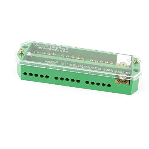 X-DREE FJ6/JHD-1/c Single Phase 15 Electricity Meter Power Cable Distribution Block(FJ6 / JHD-1 / c Monofase 15 Unità di distribuzione del cavo di alimentazione contatore elettrico