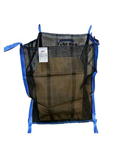 Set di 5 sacchi per legna da ardere 2 passanti di sollevamento inferiori 4 fondo chiuso Yubi Bag 100 x 100 x 160 cm
