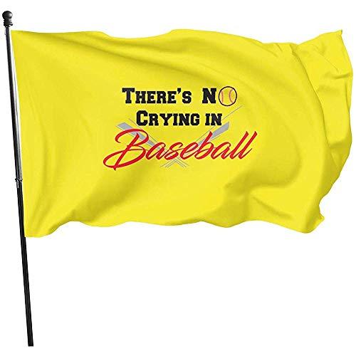 AmyNovelty Yard Flag,No Hay Llanto En La Bandera De Béisbol Banderas Atractivas De Jardín para Decoración De Bienvenida De Jardín 90cmx150cm