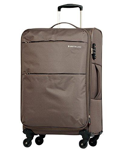 L型 カーキ / AIR6327(solite)スーツケース キャリーケース ソフト TSAロック搭載 大型