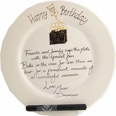 Dreamair 80th Birthday Gift: Signing Plate(rd)(Box)