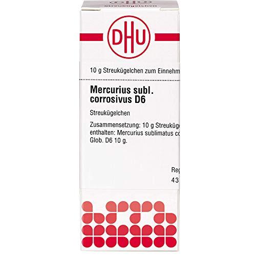 DHU Mercurius sublimatus corrosivus D6 Streukügelchen, 10 g Globuli