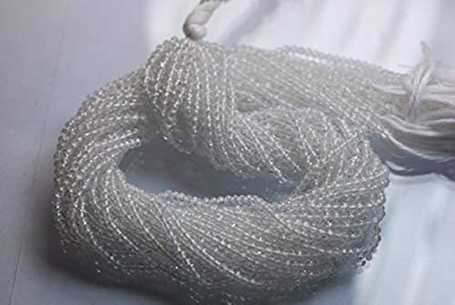 Web oficial GEMS-WORLD BEADS GEMSTONE GEMSTONE GEMSTONE 13'' Full Strand, Super Rare Finest Quality Crystal Faceted Rondelles, Talla 3mm, Wholesale Price  mejor precio