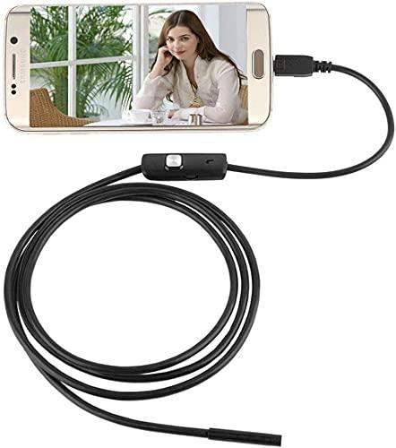 2.0 Megapixel CMOS HD USB Endoskop Kamera,Electro-weideworld 6 Einstellbare LED Wasserdichtes Endoskop Inspektions Kamera Rohr Boroskop für Android Samartphone mit OTG und UVC-Funktion - 1.5M Kabel