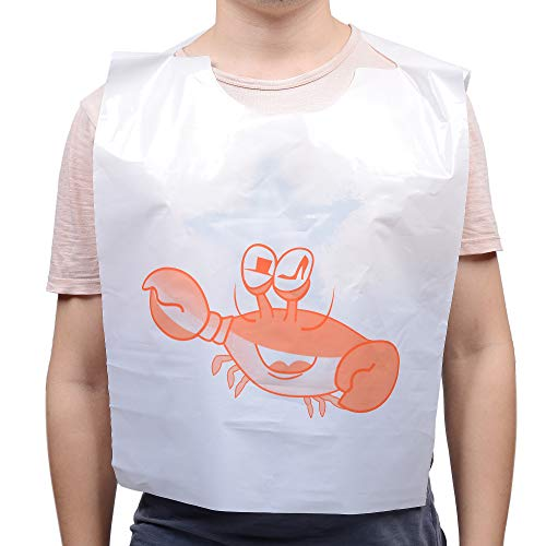 "12/"" TIDI Products 313-100Pack Disposable Plastic Crab Bib 1/"" Height 12/"" Width"