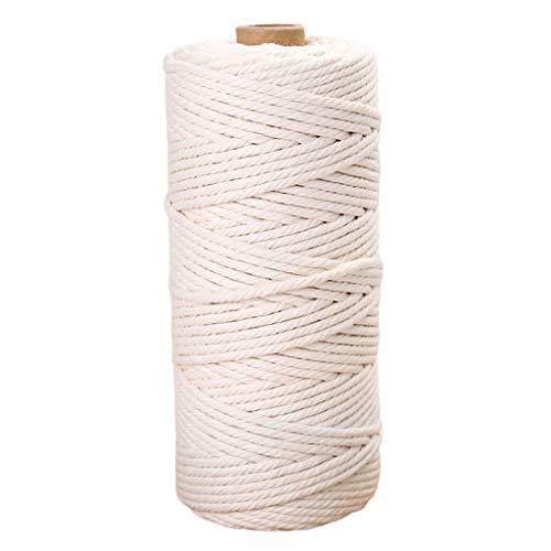 non_brand 34 / 5mm 4 Hilos Trenzado Algodón Macramé Cuerda Cuerda Artesanía Costura - 4mm