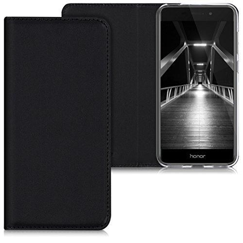 kwmobile Hülle für Huawei Honor 6C Pro - Flipcover Case Handy Schutzhülle Kunstleder - Bookstyle Flip Cover Schwarz