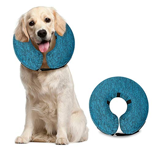 MIDOG Dog Cone Collar for After Surgery, Pet Inflatable Collar Soft Protective Recovery Cone for Dogs and Cats to Prevent Pets from Touching Stitches, Wounds and Rashes