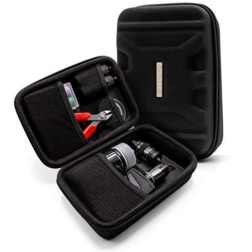 VapeHero® XL E-Zigarette Tasche | Dampfer Etui für max. 80ml Liquid und Zubehör | Passend für große Mods | Stoßfest