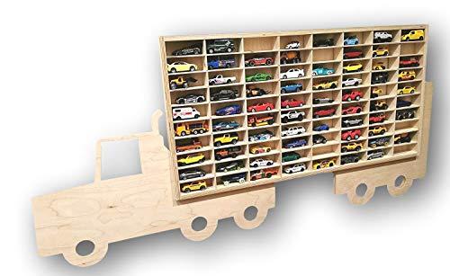 Dekoralove Hot Wheels Vitrina de almacenamiento Matchbox Estante de montaje en pared para 80 coches