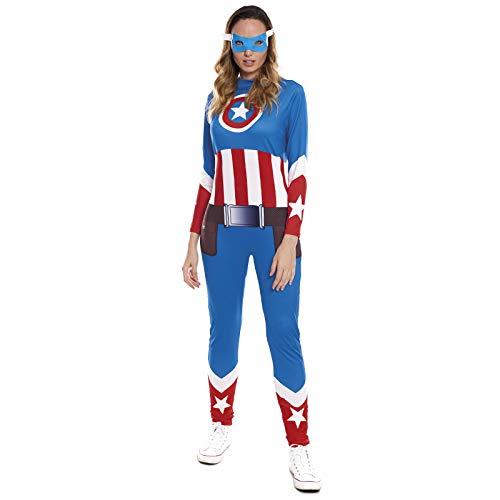 Disfraz Superherona Star Girl MujerTallas Adulto S a L[Talla S] | Disfraces Mujer Superhroes Carnaval Halloween Regalos Chicas Cosplay Cmics