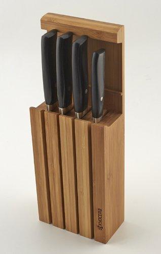 Kyocera Keramikmesser Set- 4 Messer JPN Japan Serie + Messerblock in Weihnachts-Geschenkverpackung