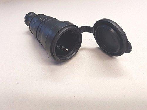 Acoplamiento de goma Schuko (230 V, fabricado en Alemania, IP44)