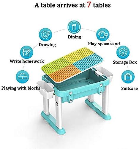 Kinder-Klappschreibtischset, zusammengesetztes Spielzeug, Puzzle-Multifunktionstisch und Stuhlset, geeignet für Jungen mädchen