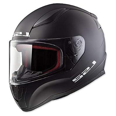 LS2 Helmets Full Face Rapid Street Helmet (Matte Black - Large)