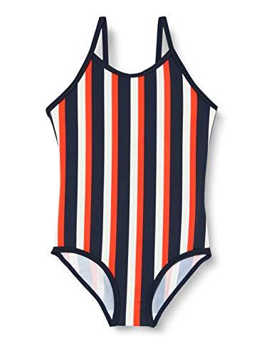 NAME IT Mädchen NMFZTRIPE Swimsuit Badeanzug, Dark Sapphire, 110/116