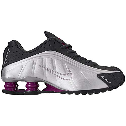Price comparison product image Nike Womens Shox R4 Synthetic Anthracite True Berry Metallic Silver Black Trainers 8.5 US