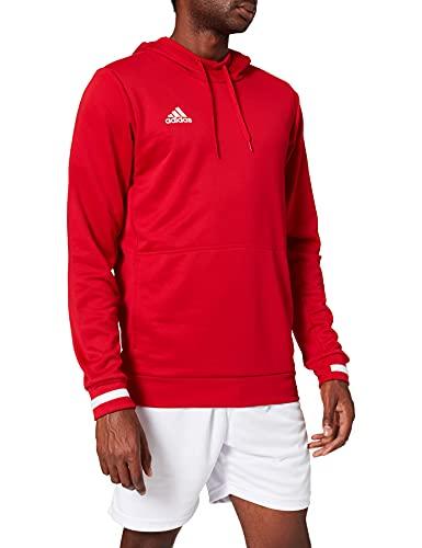 Adidas T19 Hoody M Sudadera, Hombre, Power Red/White, 3XL