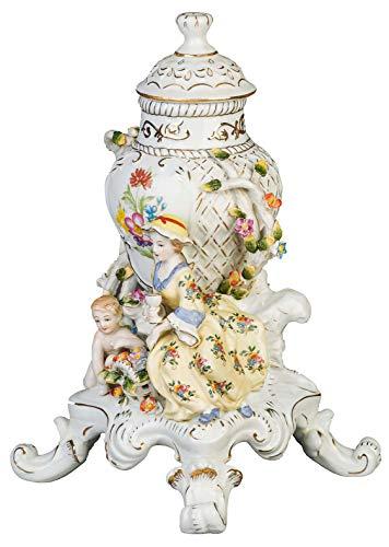aubaho Prunk Vase Deckelvase Porzellan Prunkgefäß Zierporzellan Deckeldose Porcelain
