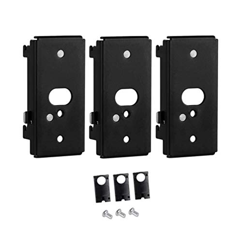 Bedycoon 3 pcs Replacement Wall Mounting Bracket for Bose SlideConnect WB-50 - Black (UFS-20), Lifestyle 525 535 III,Lifestyle 600,soundtouch 300 soundtouch 520,CineMate 520 Wall Bracket