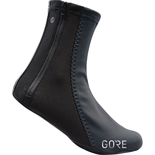 GORE WEAR Unisex Windproof Overshoes, C5 WINSTOPPER Thermo Overshoes, Size: 9-10.5, Color: Black, 100392