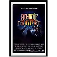 GZSBYJSWZ アトランティックシティ(1980)クラシック映画ネオノワール映画レトロヴィンテージポスターキャンバス絵画壁アート写真アートワーク家の装飾ギフト-50X70Cmx1フレームなし