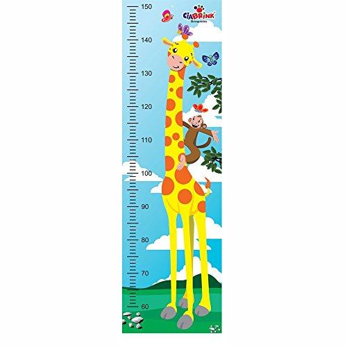 Régua Animada para Medição de Altura - Girafa - Ciabrink