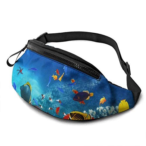 AOOEDM Tropical Underwater World Fashion Casual Riñonera Riñonera Travel Riñoneras Bolsillo para Correr para Hombres y Mujeres