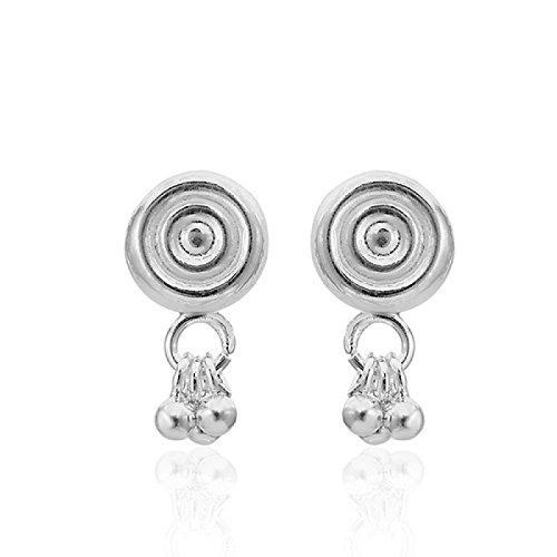 Chic-Net zilveren oorstekers oorringen unisex 925 sterling zilver cirkel bolletjes glanzend