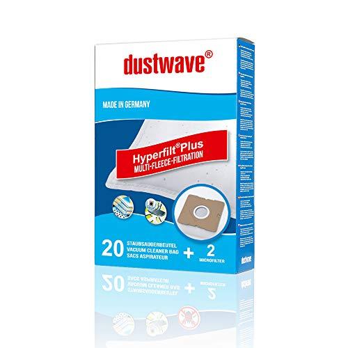 dustwave® - 20 bolsas de aspiradora premium para Taurus - Polo 3000 / fieltro extragrueso para alérgicos - Marca MicrofiltPlus fabricado en Alemania + 2 microfiltros