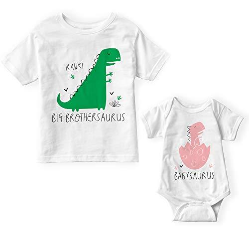 Big Brothersaurus & Babysaurus Set por POM COTHING – Conjunto de hermanos, Nuevo Gran Hermano, Anuncio de embarazo