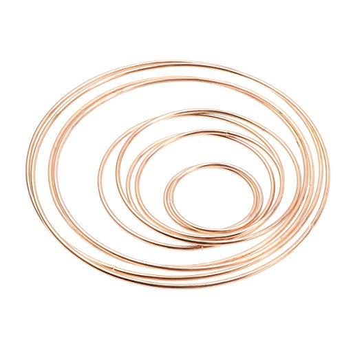 VOSAREA Drahtringe Set Metall Ringe Handwerk für Traumfänger DIY Handwerk 10 Stück (Golden)