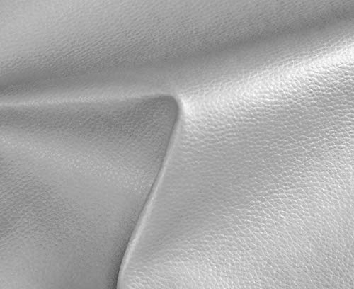 HAPPERS 0,50 Metros de Polipiel para tapizar, Manualidades, Cojines o forrar Objetos. Venta de Polipiel por Metros. Diseño Solar Color Plata Ancho 140cm