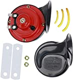 300DB super loud motorcycle snail horn, suitable for trucks, trains, cars and ships, pneumatic and electric snail horns, 12v waterproof truck and motorcycle air horns,air horn for 12v truck motorcycle