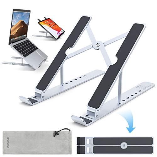 dodocool Suporte portátil dobrável, alumínio ventilado refrigeração, níveis ajustável suporte computador portátil para MacBook Pro, Macbook Pro, Lenovo, DELL XPS, HP, PC e outros 8 - 17,3 cm p