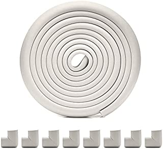 MOCOFO Baby Proofing Edge Corner Guards: 6 Piece Furniture Safety Set White (2 pieces extra)