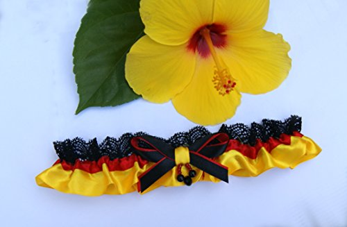 Strumpfband Deutsche Pfanne Flagge Deutschlands Hochzeit Braut Brautkleid Unterwaesche