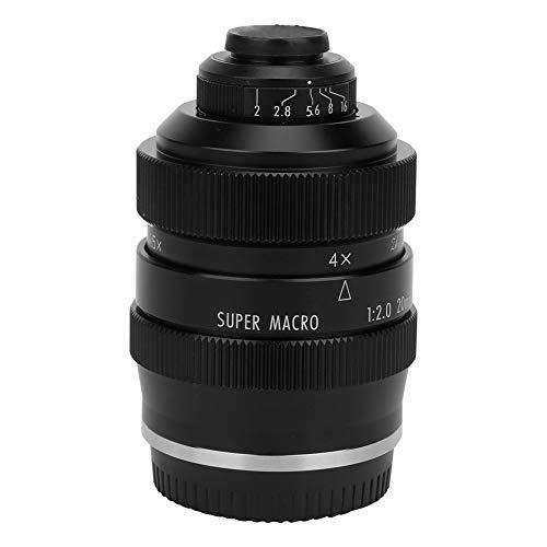 Sxhlseller Lente Súper Macro de Enfoque Manual de Gran Apertura F2 de 20 Mm para Canon M6 / M5 / M3 / M50 / M100 / M200 Cuerpo de Cámara sin Espejo con Montura EOS-M