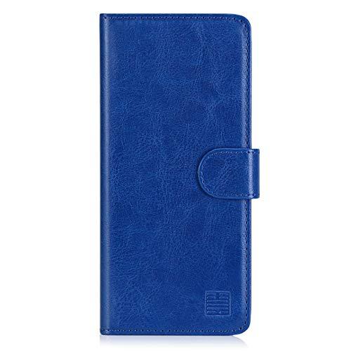 32nd PU Leder Mappen Hülle Flip Hülle Cover für Nokia 5.3 (2020), Ledertasche hüllen mit Magnetverschluss & Kartensteckplatz - Blau