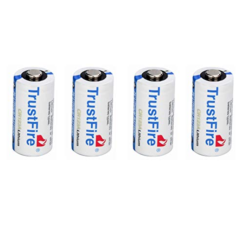 WTALL 4 Pack CR123A 3V Batería de Litio no Recargable de 1300mAh para luz de cámara fotográfica