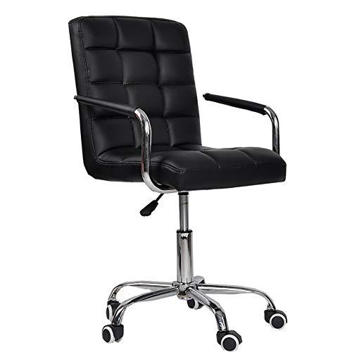 Moderne middenrug ondersteuning bureaustoel, kunstleer hoog verstelbaar voor computer bureau werkstation