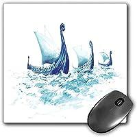 マウスパッドゲーム機能的なバイキング厚い防水デスクトップマウスマットスカンジナビアの古代芸術の北欧の海の荒い木材船でのバイキングDrakkarsの肖像画、多色ノンスリップゴムベース