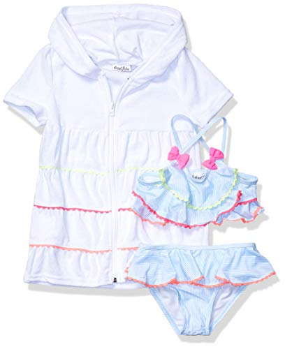 Freestyle Revolution Girls' Little 2Pc Picnic Party Set with Terry Cover Up, Multi, 5