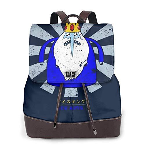 Ice King Retro Japanese Adventure Time Women's Bapack, College Girl School Bag, Ladies Travel Bapack, Ladies Leather Bapack