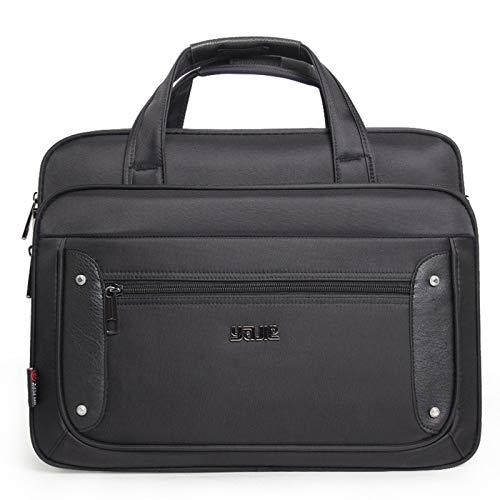 Laptop Bags Super Capacity Plus Business Men's Briefcase Women's Laptop Bags 15.6 16 17 19 Inches Oxford Travel Bag Over The Shoulder (Color : 19 inch)