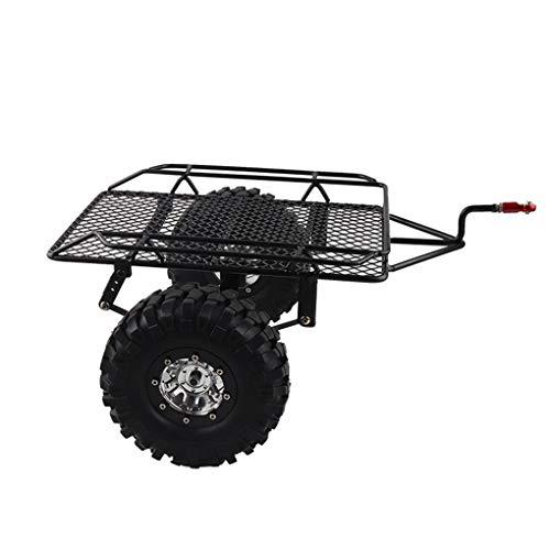 Floridivy Vervanging voor 01:10 SCX10 TRX4 Rc Rock Crawler Metal Trailer Frame Simulation Aanhangers Hopper Trail Banden